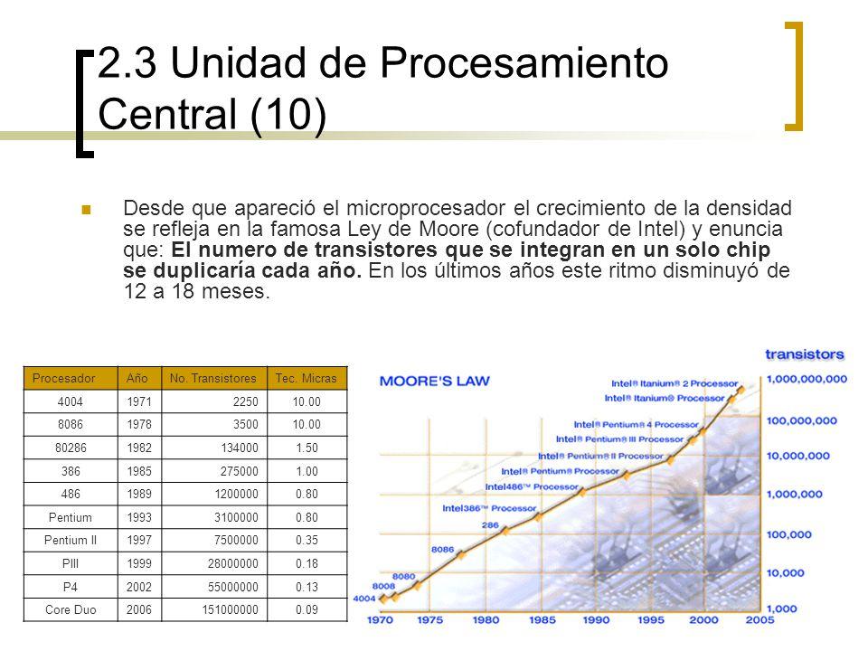 2.3 Unidad de Procesamiento Central (10)
