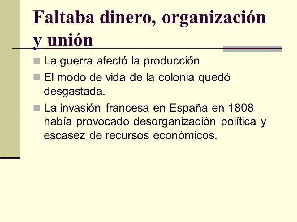 Faltaba dinero, organización y unión