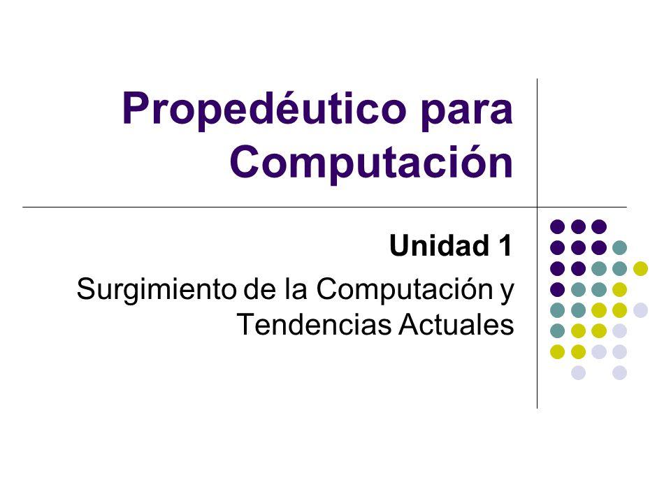 Propedéutico para Computación