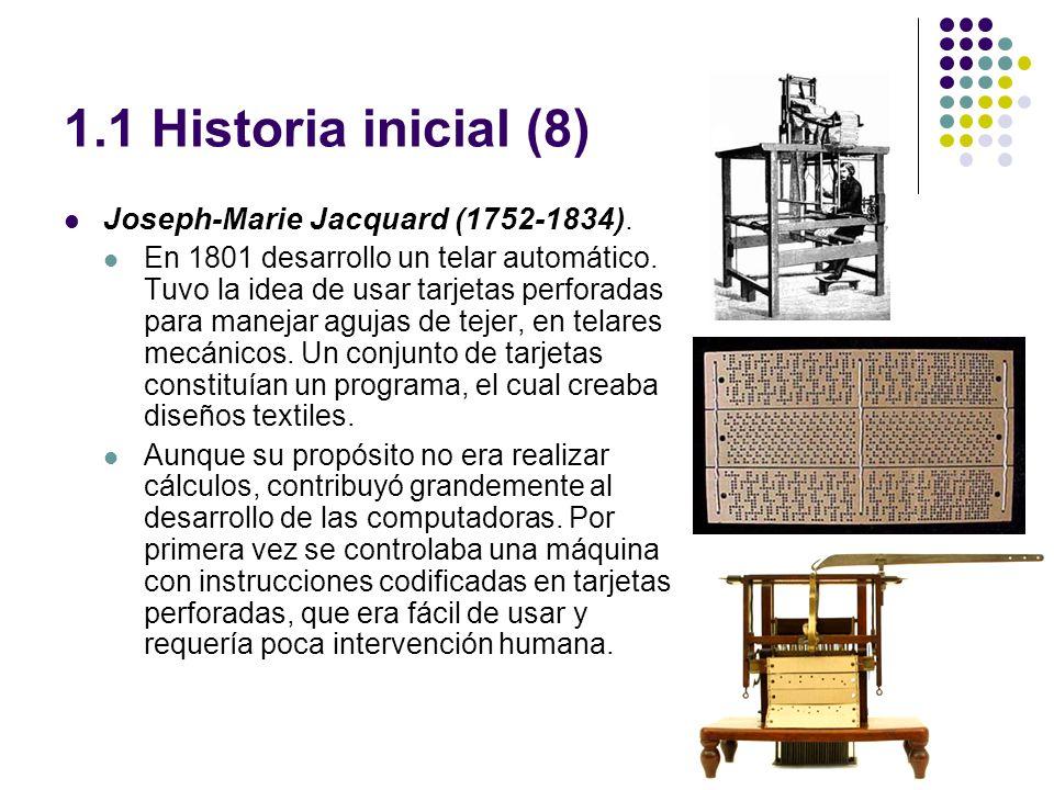 1.1 Historia inicial (8) Joseph-Marie Jacquard (1752-1834).