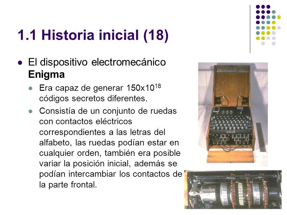 1.1 Historia inicial (18) El dispositivo electromecánico Enigma