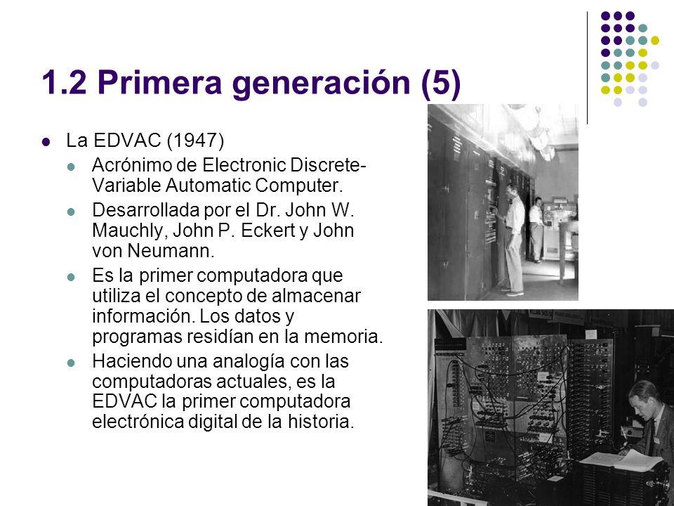 1.2 Primera generación (5) La EDVAC (1947)