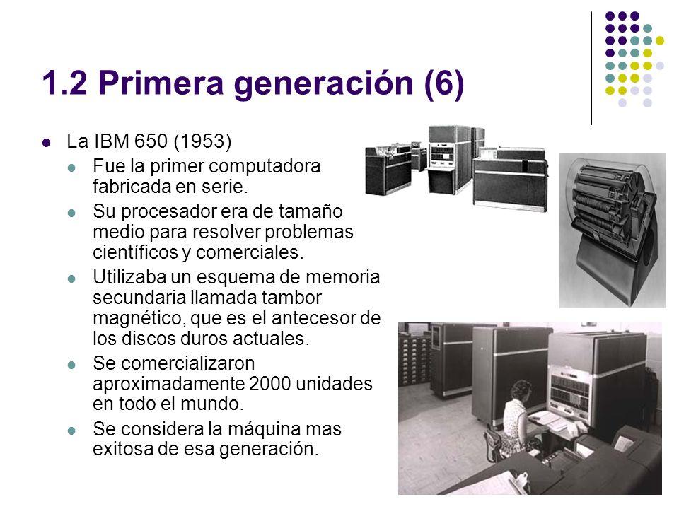 1.2 Primera generación (6) La IBM 650 (1953)