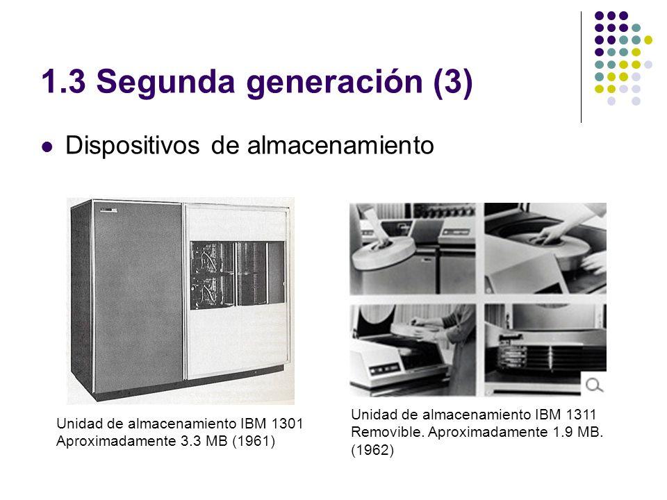 1.3 Segunda generación (3) Dispositivos de almacenamiento