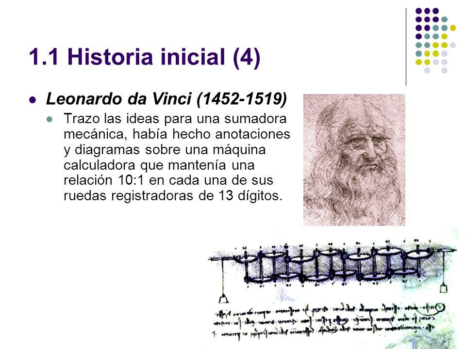 1.1 Historia inicial (4) Leonardo da Vinci (1452-1519)