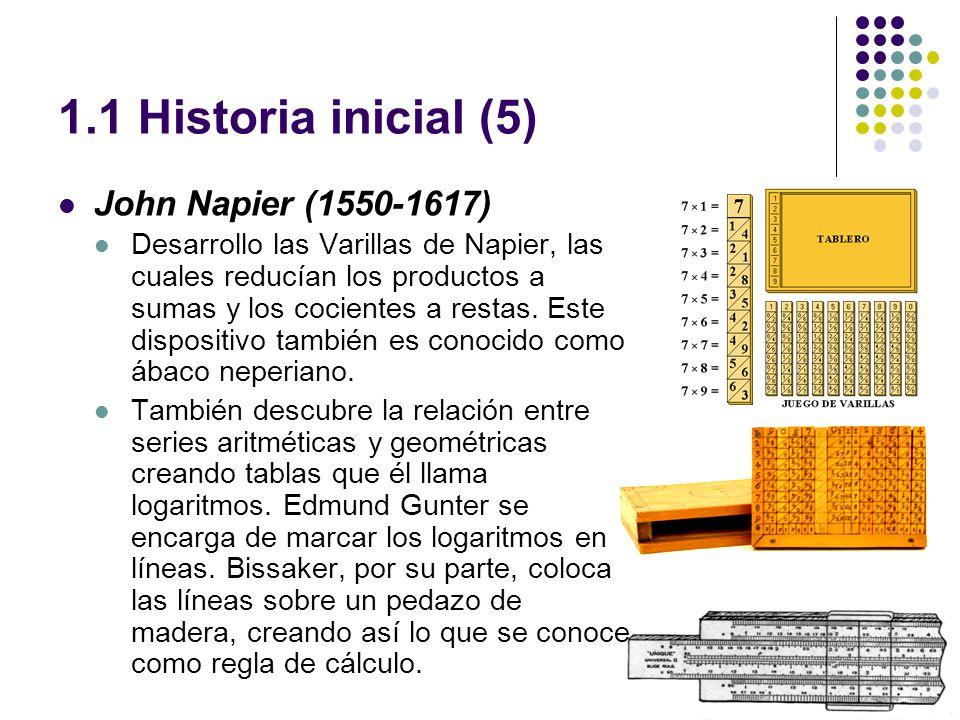 1.1 Historia inicial (5) John Napier (1550-1617)