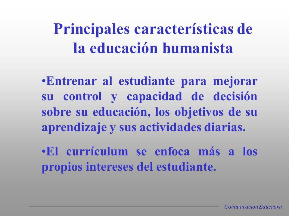 Principales características de la educación humanista