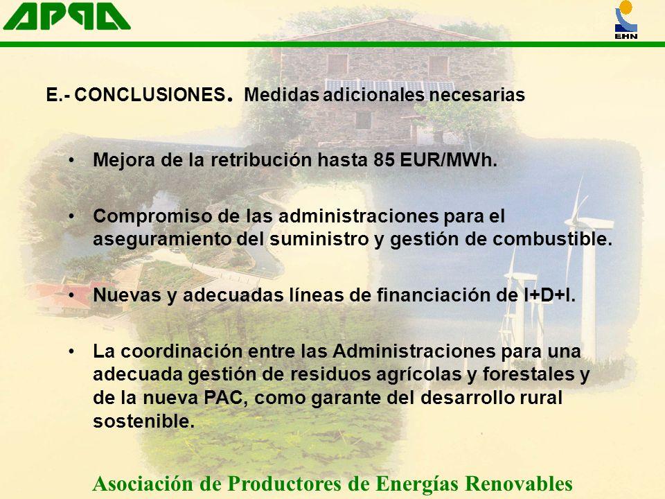 E.- CONCLUSIONES. Medidas adicionales necesarias