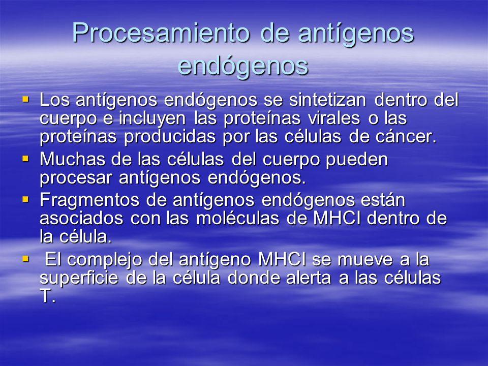 Procesamiento de antígenos endógenos