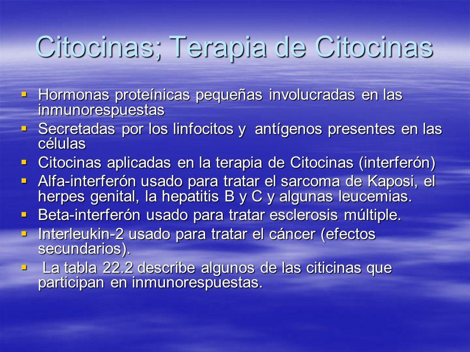 Citocinas; Terapia de Citocinas