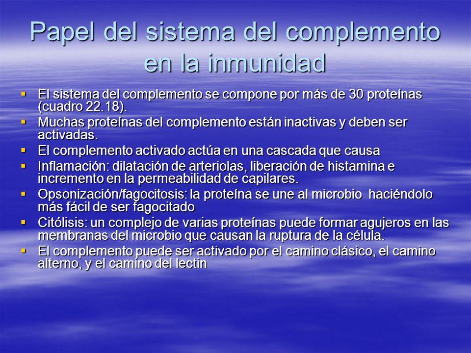 Papel del sistema del complemento en la inmunidad