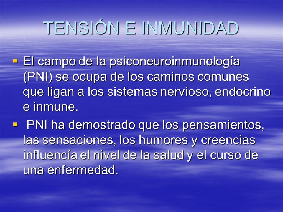TENSIÓN E INMUNIDAD El campo de la psiconeuroinmunología (PNI) se ocupa de los caminos comunes que ligan a los sistemas nervioso, endocrino e inmune.