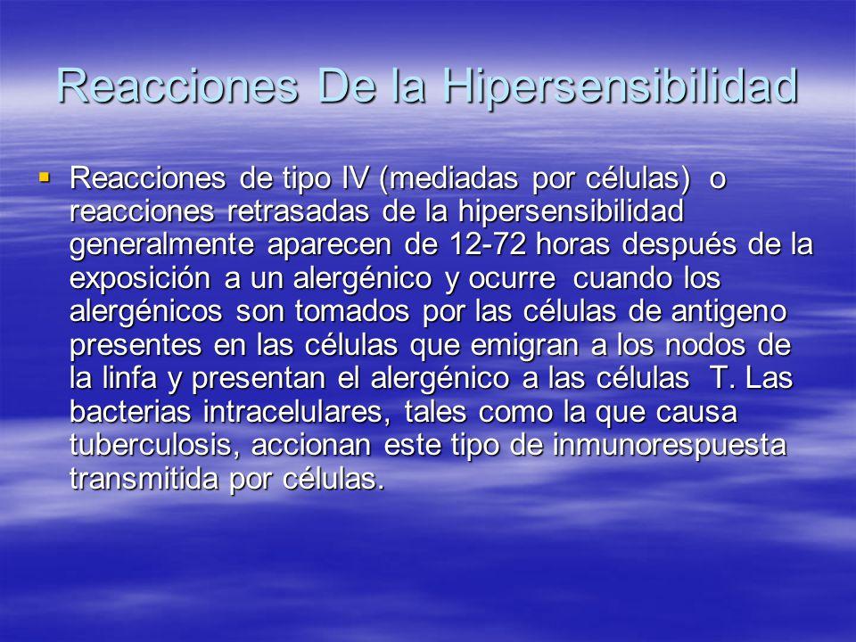 Reacciones De la Hipersensibilidad