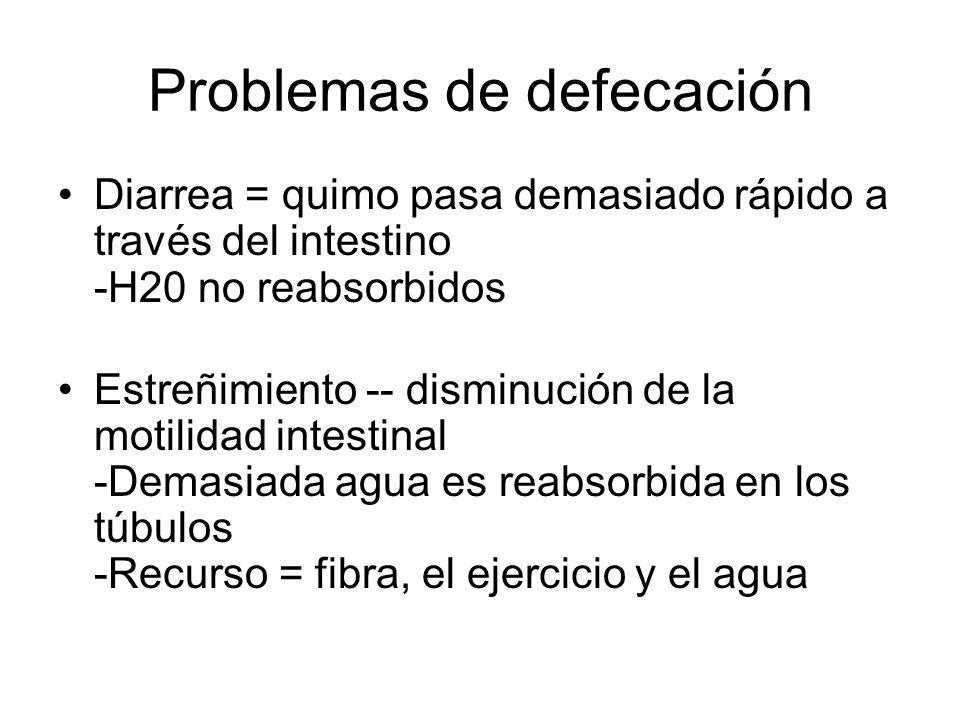Problemas de defecación