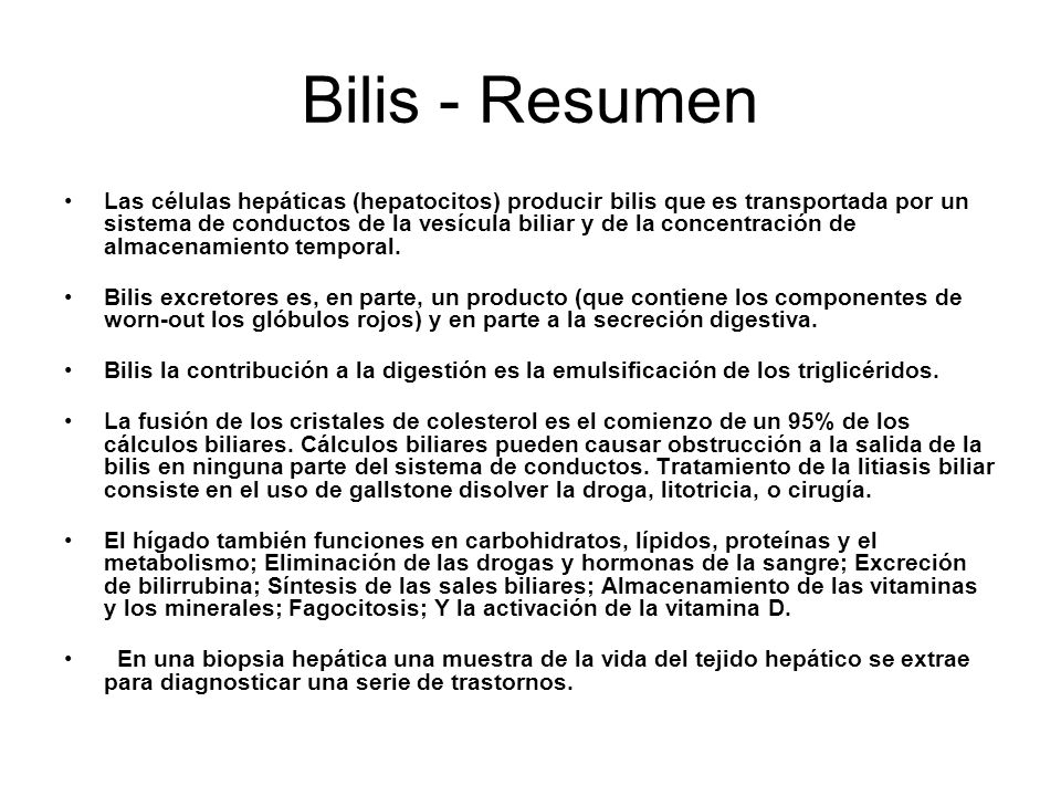 Bilis - Resumen