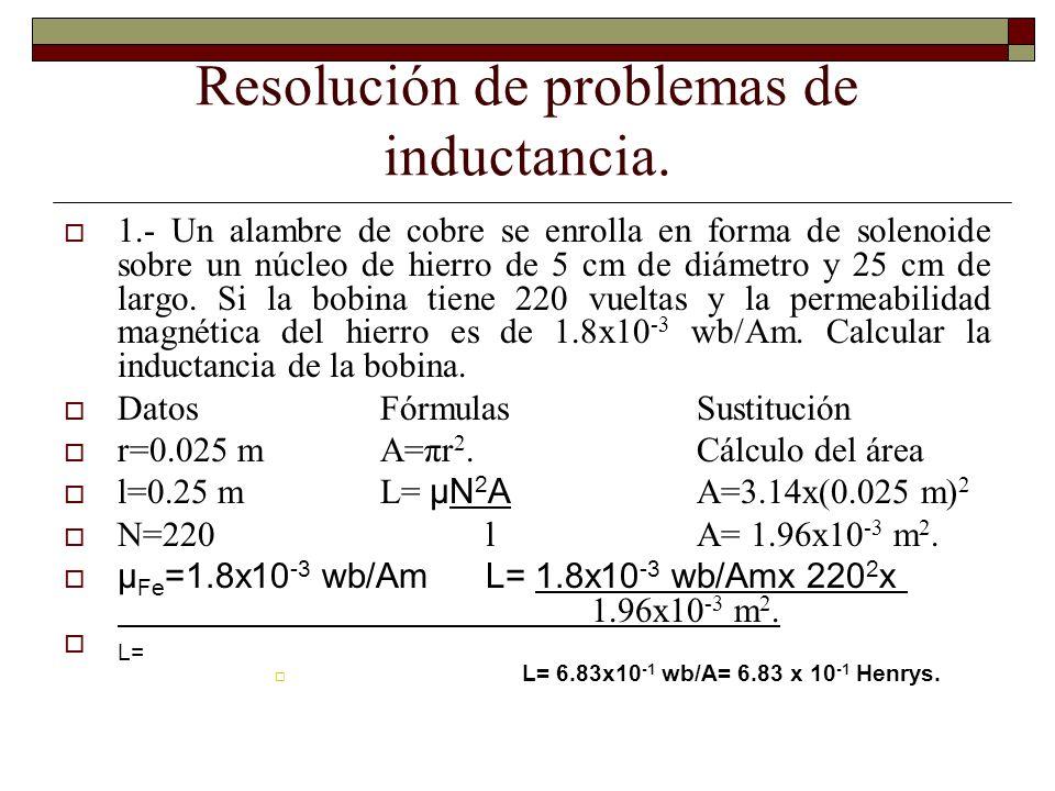 Resolución de problemas de inductancia.