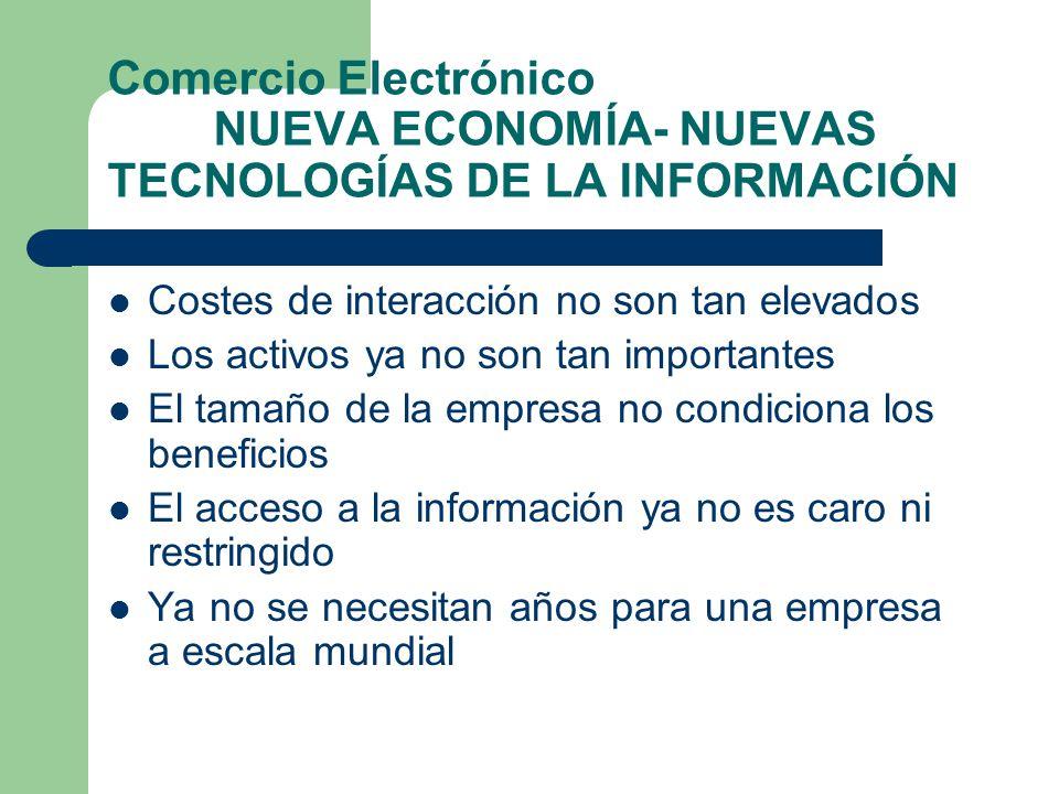 Comercio Electrónico NUEVA ECONOMÍA- NUEVAS TECNOLOGÍAS DE LA INFORMACIÓN