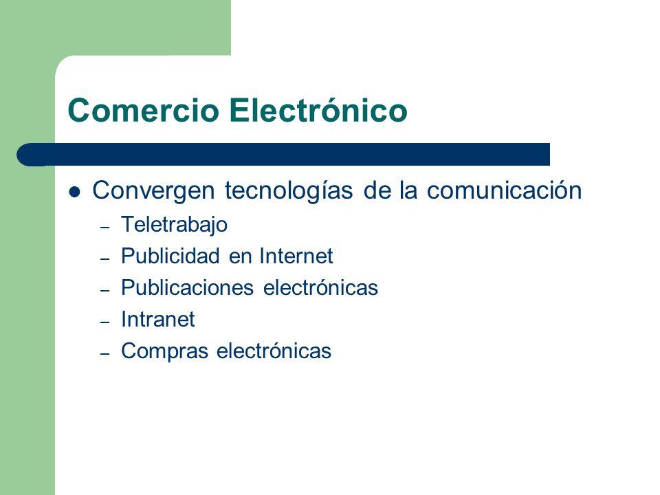 Comercio Electrónico Convergen tecnologías de la comunicación