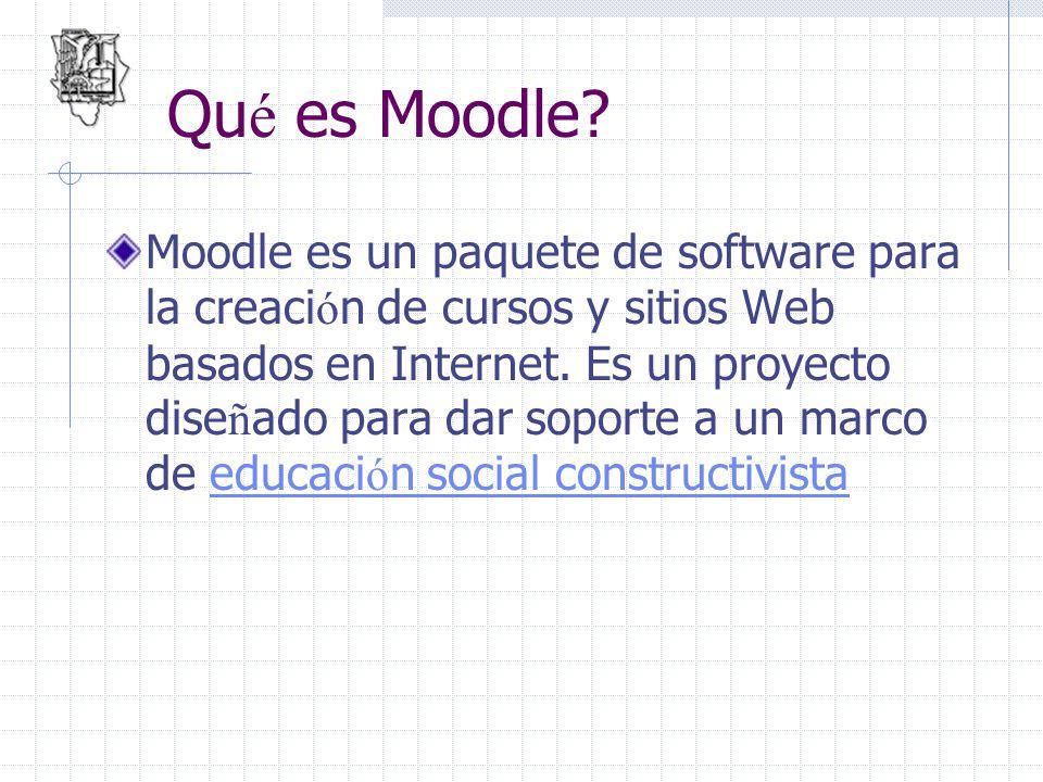 Qué es Moodle