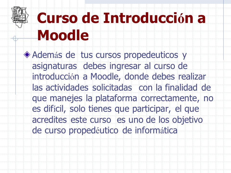 Curso de Introducción a Moodle