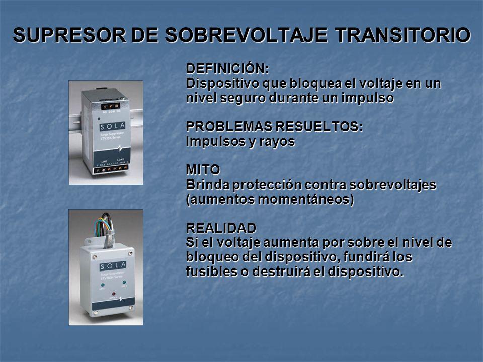 SUPRESOR DE SOBREVOLTAJE TRANSITORIO