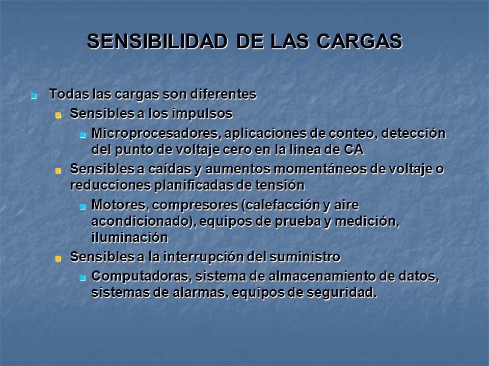 SENSIBILIDAD DE LAS CARGAS