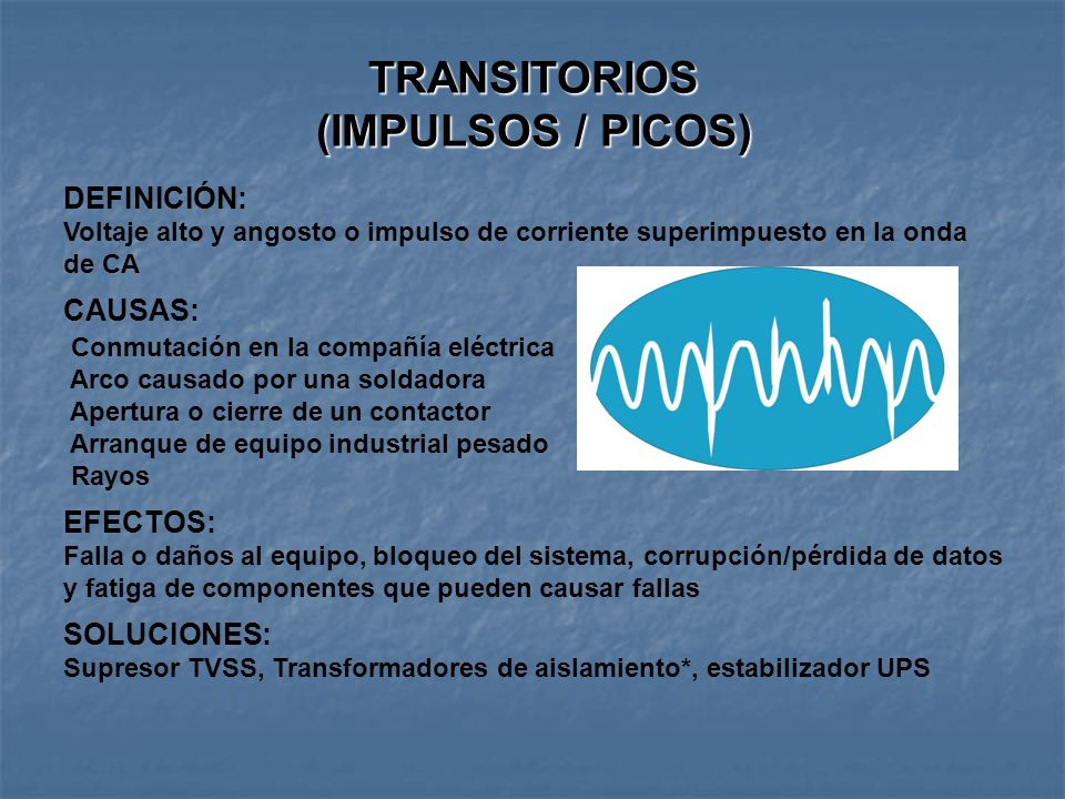 TRANSITORIOS (IMPULSOS / PICOS)