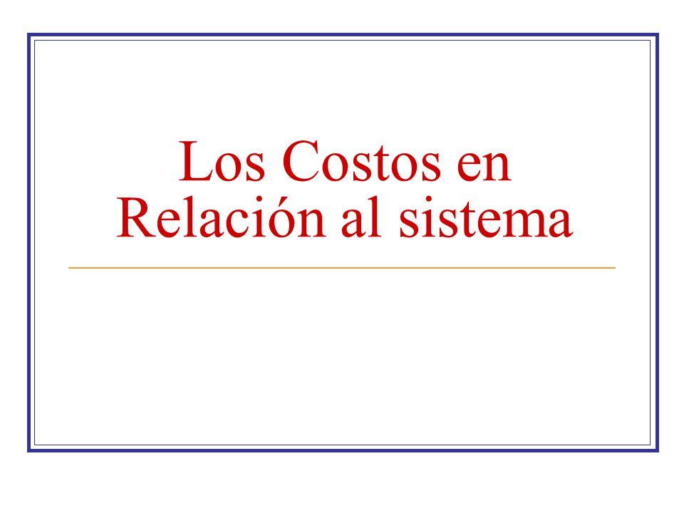 Los Costos en Relación al sistema