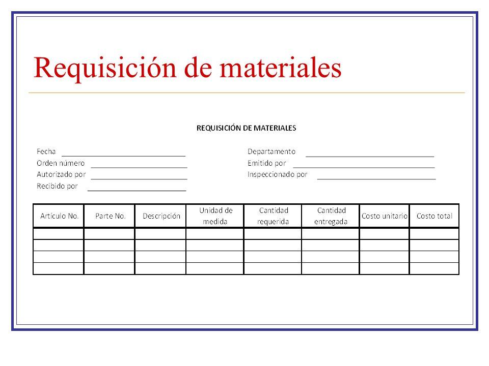Requisición de materiales