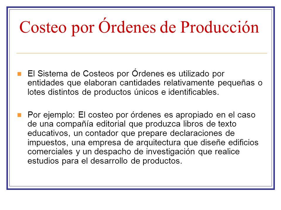 Costeo por Órdenes de Producción