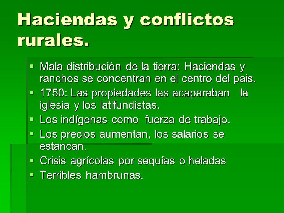 Haciendas y conflictos rurales.