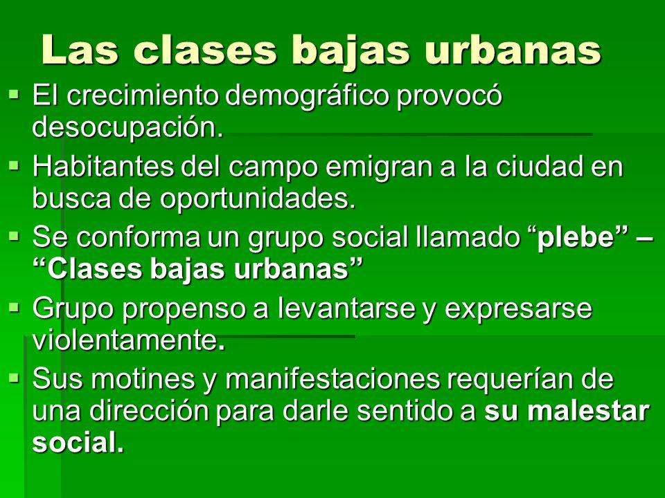 Las clases bajas urbanas