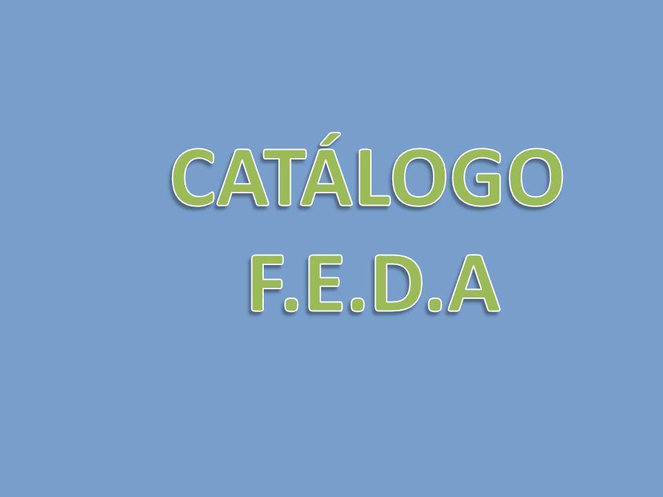CATÁLOGO F.E.D.A