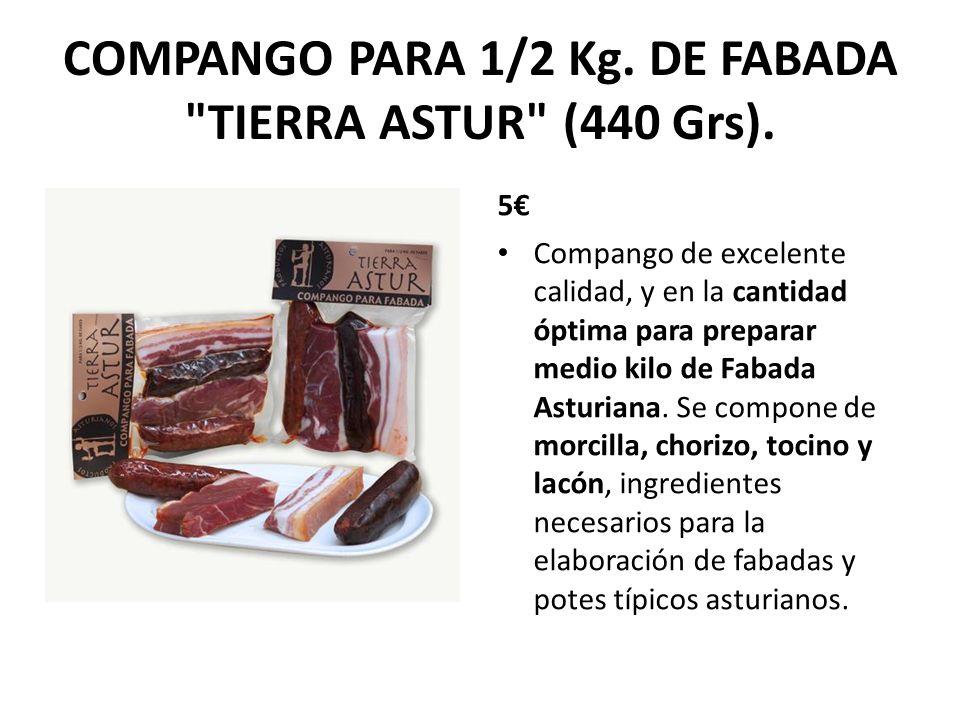 COMPANGO PARA 1/2 Kg. DE FABADA TIERRA ASTUR (440 Grs).