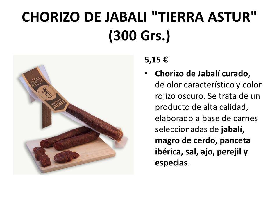 CHORIZO DE JABALI TIERRA ASTUR (300 Grs.)
