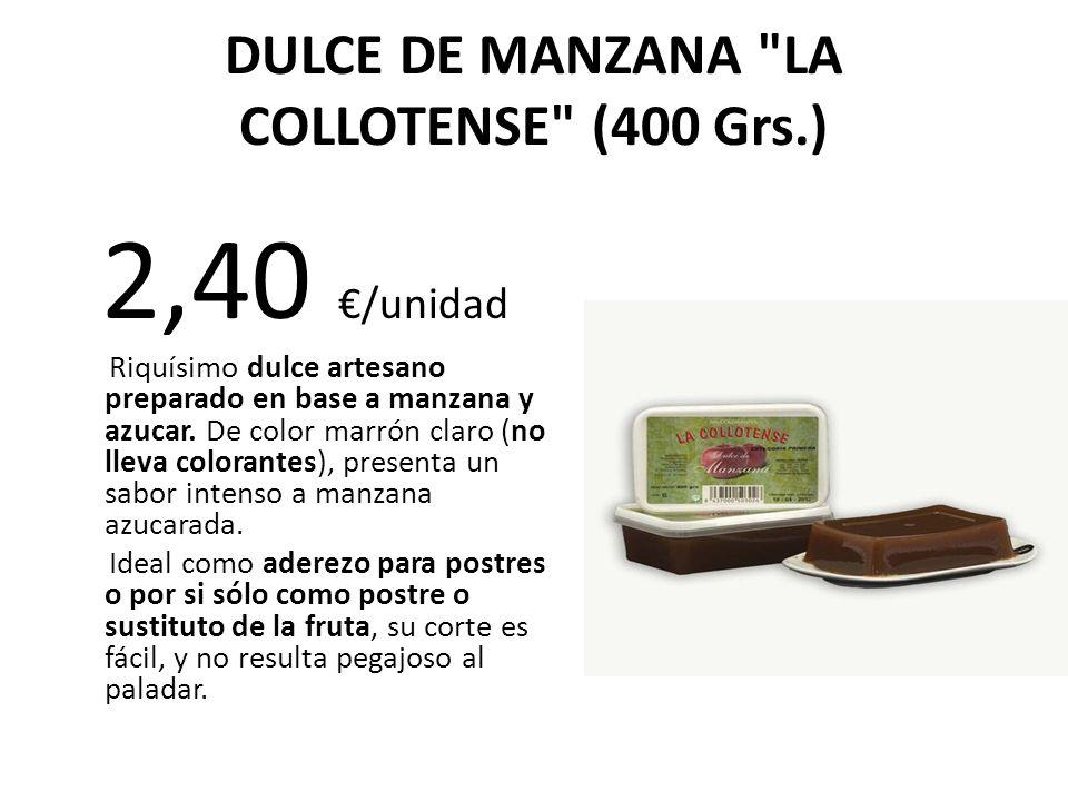 DULCE DE MANZANA LA COLLOTENSE (400 Grs.)