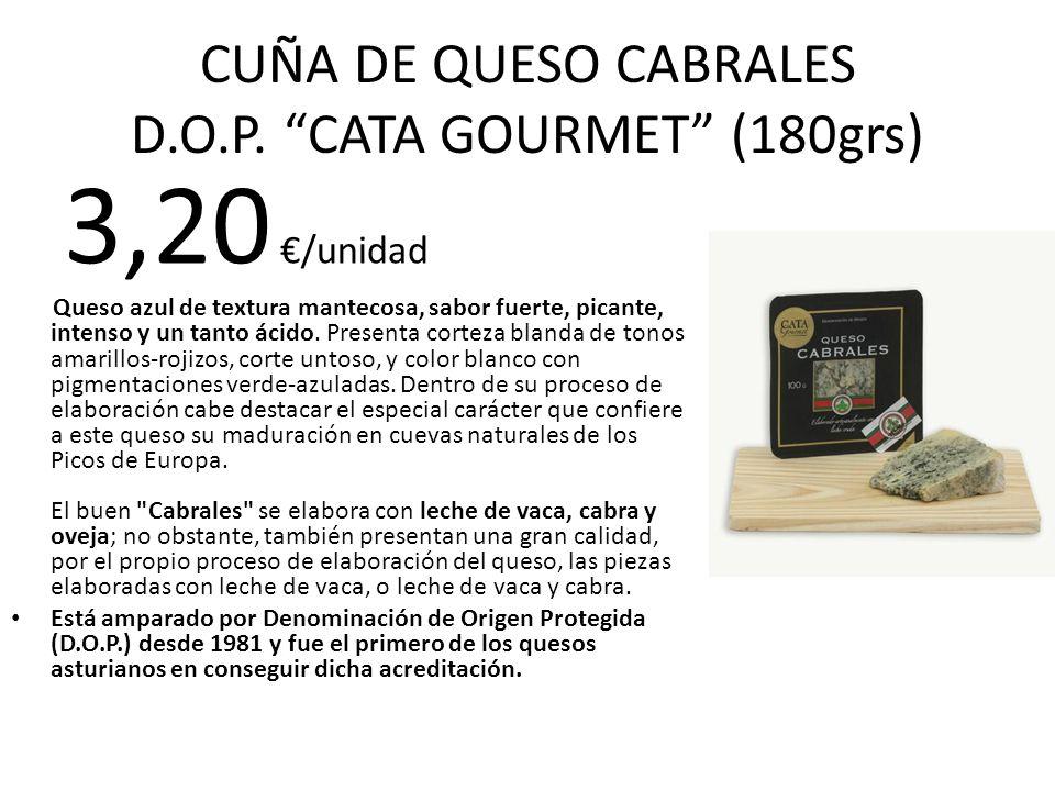CUÑA DE QUESO CABRALES D.O.P. CATA GOURMET (180grs)