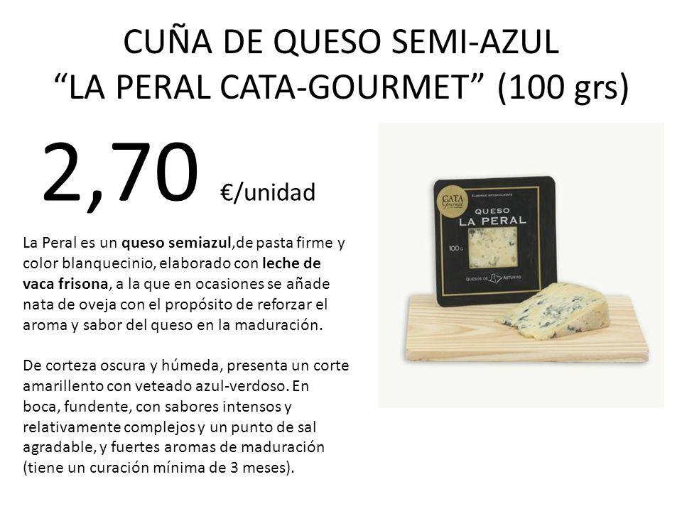 CUÑA DE QUESO SEMI-AZUL LA PERAL CATA-GOURMET (100 grs)