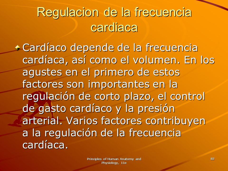 Regulacion de la frecuencia cardiaca