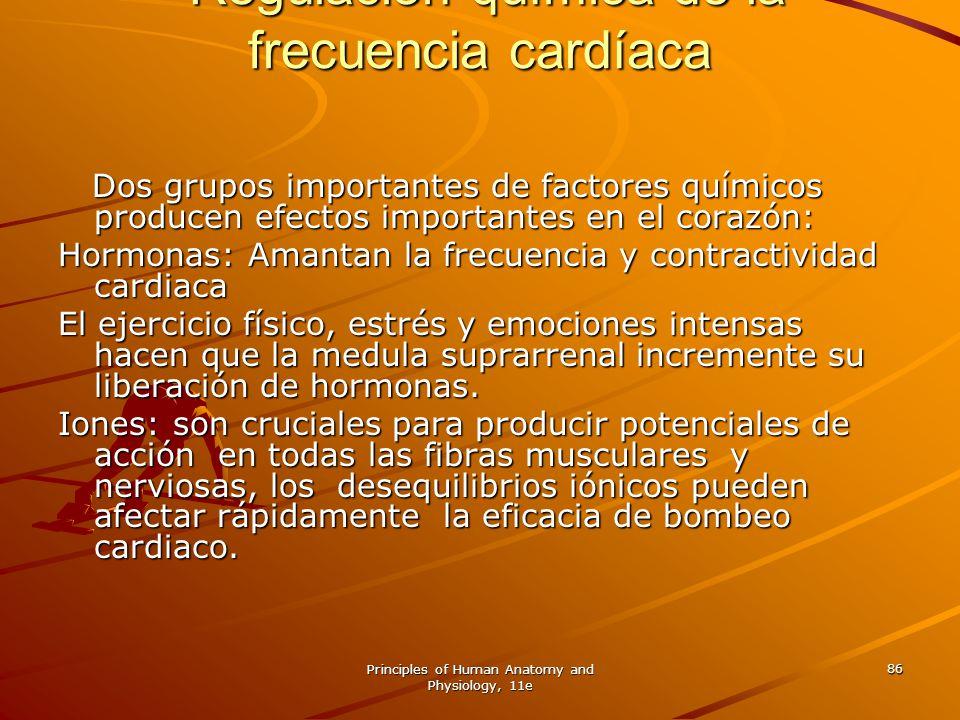 Regulación química de la frecuencia cardíaca