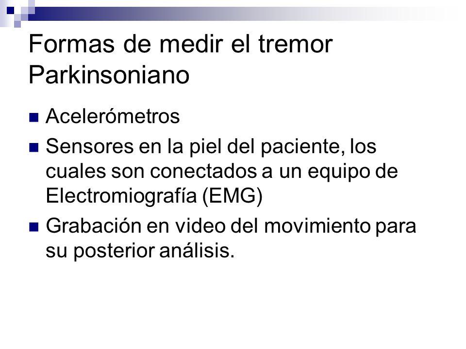 Formas de medir el tremor Parkinsoniano
