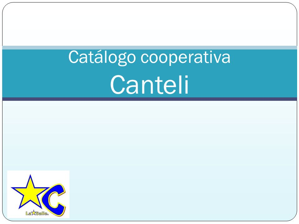 Catálogo cooperativa Canteli