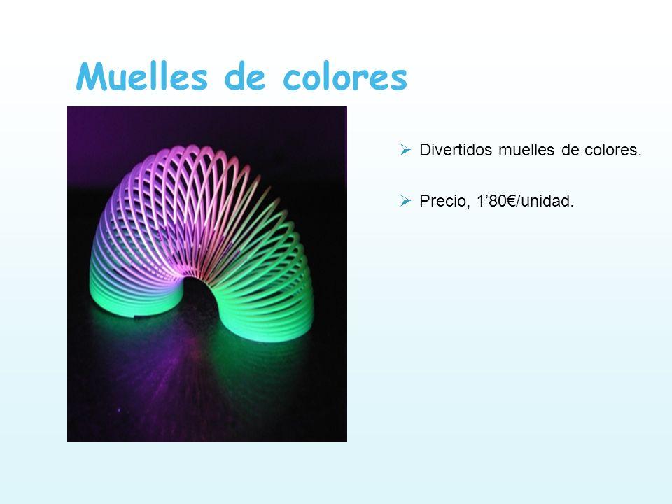Muelles de colores Divertidos muelles de colores.