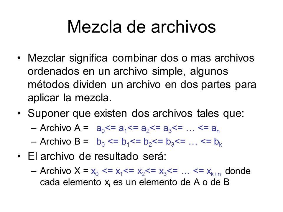 Mezcla de archivos