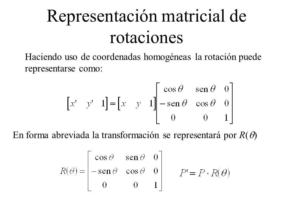 Representación matricial de rotaciones