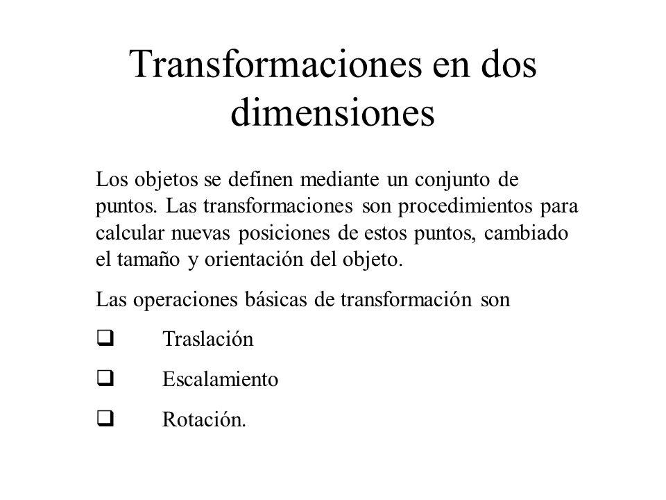 Transformaciones en dos dimensiones