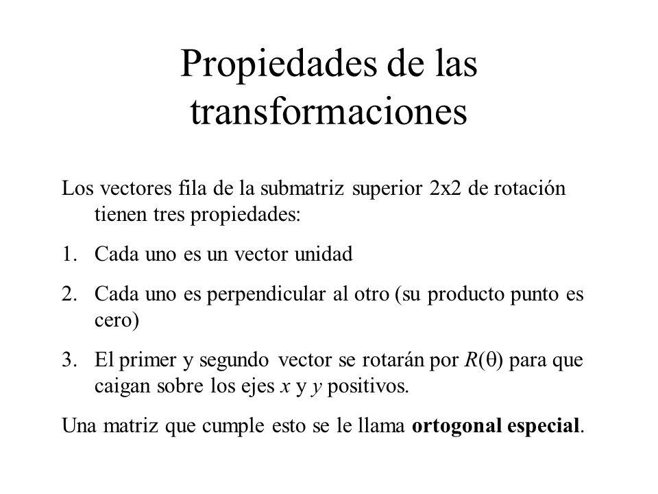 Propiedades de las transformaciones