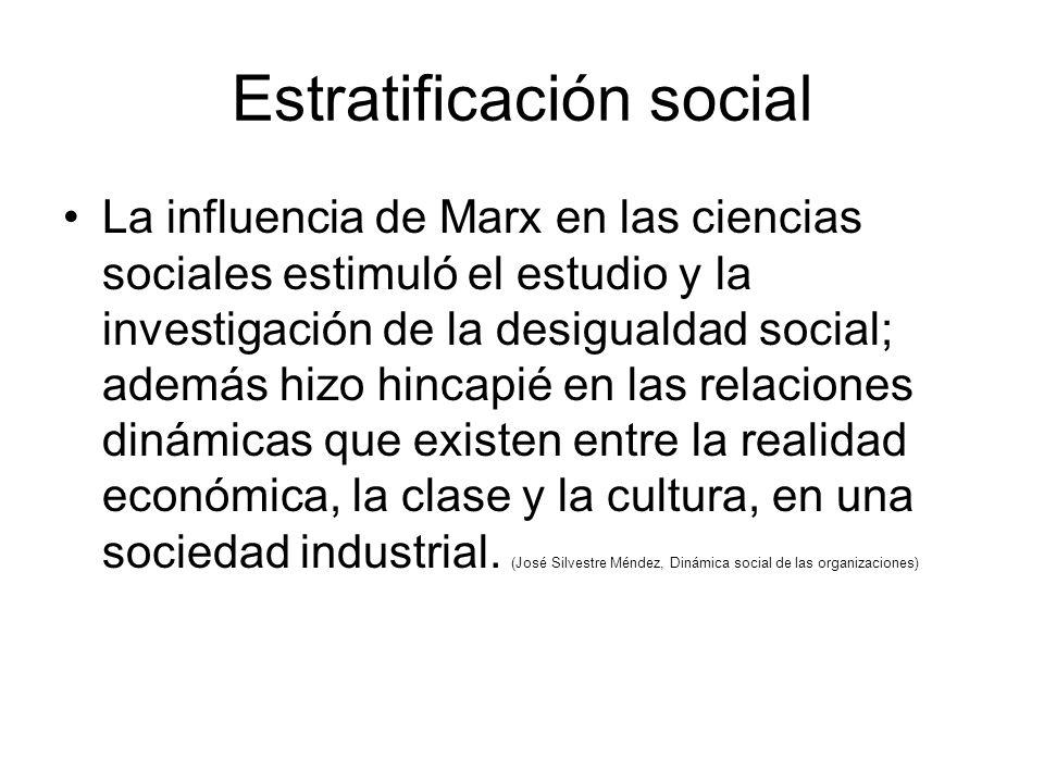 Estratificación social