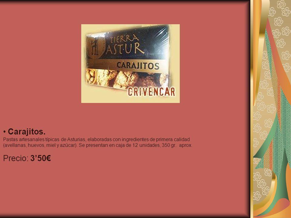 Carajitos.Pastas artesanales típicas de Asturias, elaboradas con ingredientes de primera calidad.