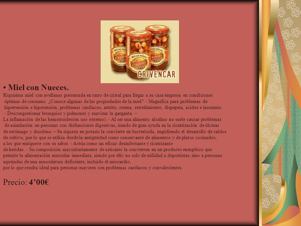 Miel con Nueces. Precio: 4'00€
